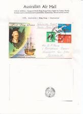 1970  Inagural Flight Perth-Hong Kong Return back stamped  Flight Cover