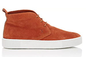 NWT TOD'S Men Suede Chukka Sneakers 10.5M Brown $495