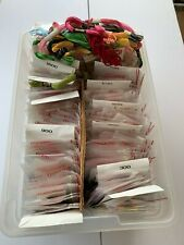 Lot Embroidery Thread, Skeins DMC, Variety of colors Pre owned 250+ in container