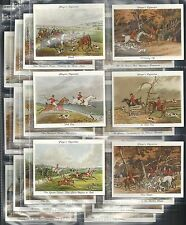"PLAYERS, OLD HUNTING PRINTS, ORIGINAL SET OF 25, ISSUED IN 1938. ""EXCELLENT"""