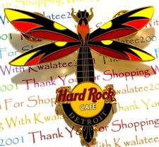 HRC Hard Rock Cafe Detroit Dragonfly Guitar Series 2004 Pin LE NEW Pin # 23932