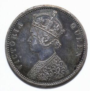 1862, India British, 1 Rupee, Victoria, Silver, EF, KM# 473, Lot [254]