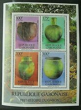 Gabon 1992 Prehistory Pottery Mini Sheet UM. SG MS1107