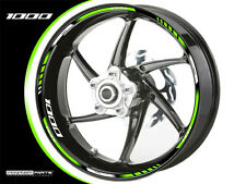 Felgenrandaufkleber f. Kawasaki Z 1000 grün-weiss-schwarz