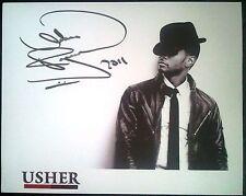 USHER 2011 OMG TOUR Signed Print 255mm x 203mm Official Concert Memorabilia