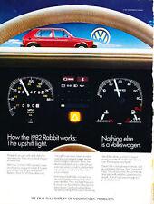 1982 Volkswagen VW Rabbit - Dash - Classic Vintage Advertisement Ad D133