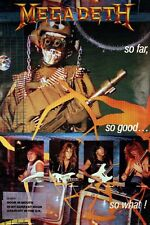 Megadeth 1987 So Far, So Good Original Promo Poster