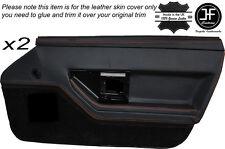 Cuciture color arancio 2X PORTA ANTERIORE IN PELLE DECORAZIONE carta copertura della pelle si adatta Corvette C4 84-90