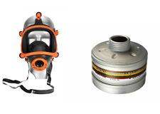 Dräger A2B2E2K2Hg P3 Filter inkl. Vollmaske Gasmaske Atemschutzmaske