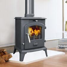 5.5KW Small Modern Clean Burn Multi Fuel Wood Log Burner Burning Cast Iron Stove