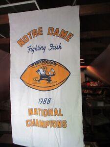 Vintage Notre Dame Fighting Irish Towel 1988 National Champions NCAA Football