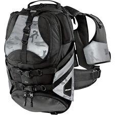 Icon Squad II grey and black backpack motorcycle dirt bike mx bag luggage