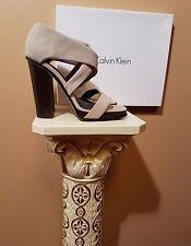CALVIN KLEIN Open Toe Sandals, Beige/Taupe, US 10