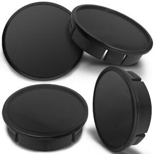 4 x 60mm - 56mm Universal Black Logo Car Rims Alloy Wheel Center Hub Centre Caps