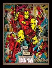Marvel Iron Man Retro-Enmarcado 30 X 40 impresión oficial