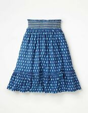 New Mini Boden smocked Midi Skirt 5-16 years cotton