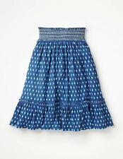 New Mini Boden smocked Midi Skirt 5-16 years cotton