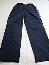 "CHILDS NAVY BLUE & WHITE PIPING TRACKSUIT BOTTOMS AGE 11 - 12 WAIST 24"" L 34.5"""