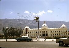 Apr 1970 Haiti Presidential Building Old Cars  ORIGINAL KODACHROME SLIDE