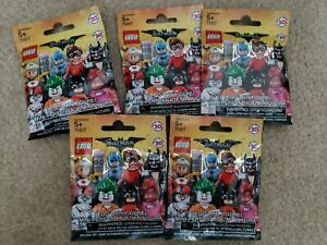 LEGO 71017 BATMAN MOVIE MINIFIGURES - LOT OF 5 PACKS BLIND BAGS NEW, SEALED