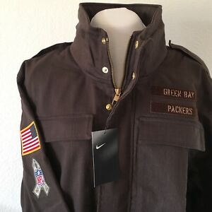 Nike NFL GreenBay Packers Salute To Service On-Field Jacket Size S AT7712-237