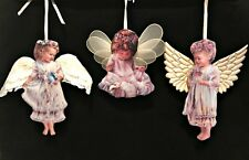 Heavens Little Angels Christmas Ornaments 3 Porcelain Bradford Editions 1 2 & 3