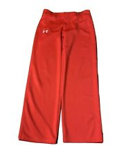 UNDER ARMOUR Clean Up Baseball Pants 1236996 Boys/Youth XL Red w/Black UA Logo