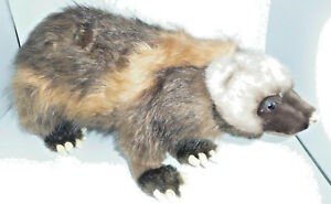 HANSA STUFFED WOLVERINE ANIMAL LARGE  RARE AND OOP. MINT CONDITION!