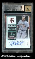 2015 Panini Contenders College Playoff Ticket - DJ Stewart Auto /99 - BGS 9 Mint
