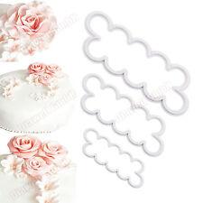 3er Rose Cutter Fondant Blumen Ausstecher Kuchenform Kuchen Form Tortendeko