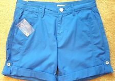 DKNY Jeans Womens Blue Cotton Button Cuff Adjustable Length Shorts 2