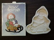 """Longaberger Pottery Snow Friends """"Sleigh Belle"""" Cookie Mold"""