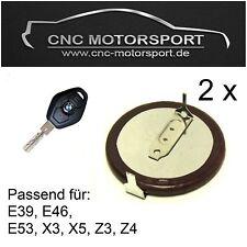 2 x Telecomando Chiave Batteria BMW E39 E46 E53 X3 X5 Z4