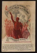 cartolina concorso NAZ,. LA VITTORIA DEL GRANO l.cappiello