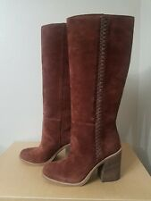 UGG Australia Maeva 1018941 Tall Brown Leather Boots size 7.5
