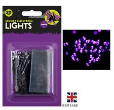 LED PURPLE String Fairy Lights Battery Halloween Decor Spooky Party Home G1320UK