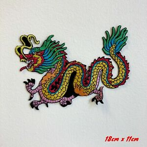 Colourful Tattoo Chinese DragonEmbroidered Iron Sew on Patch #1853