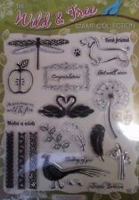 WILD & FREE CLEAR RUBBER STAMP SET~22 STAMPS~CRAFT~CARDS~ART~A4 SHEET~ANIMALS~