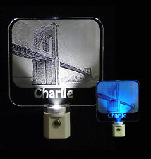 Brooklyn Bridge Personalized Photo Etched LED Night Light - Keepsake, Photograph
