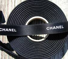 100% Authentic Chanel Black White Lettering Ribbon