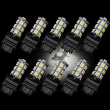 10Pcs 3157 White 18SMD 5050 Reverse Brake/Stop/Turn Tail Back Up LED Light Bulb
