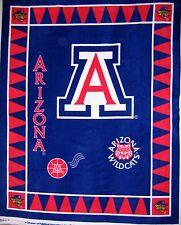 "RARE College Fleece Fabric - NCAA UA Arizona Wildcat Anti-Pill 48""x 60"" Panel"