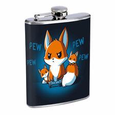 Gamer Fox Em1 Flask 8oz Stainless Steel Hip Drinking Whiskey