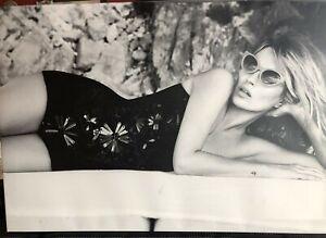 "Medium Format Patrick DEMARCHELIER Kate Moss UK Vogue Print Canvas ""Sail Away"""