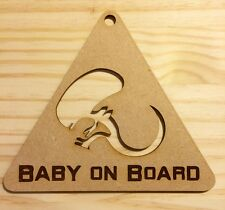 Baby on board - funny wooden sign to hang - bedroom, car, other decoration