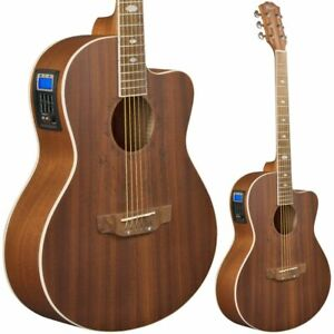 Lindo Feeling Sapele Electro Acoustic Guitar with Preamp LCD Tuner EQ & Gigbag