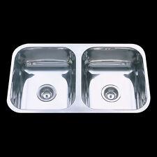 Undermount Kitchen Sink Double Bowl 304 Staineless Steel 780x445x180mm