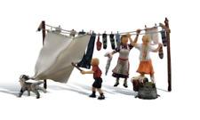 Woodland Scenics A1936 Wash Day Figures Set (With Washing Line) HO Gauge