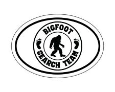 Oval Bigfoot Search Team Vinyl Decal, Sasquatch Bumper Sticker, Yeti Decal