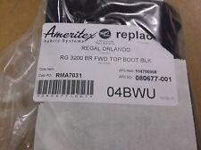 NEW IN BOX OEM REGAL BOAT 3200 BR BLACK FORWARD BIMINI TOP BOOT 114706008